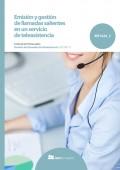 Emisión y gestión de llamadas salientes en un servicio de teleasistencia.