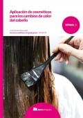 Aplicación de cosméticos para los cambios de color del cabello